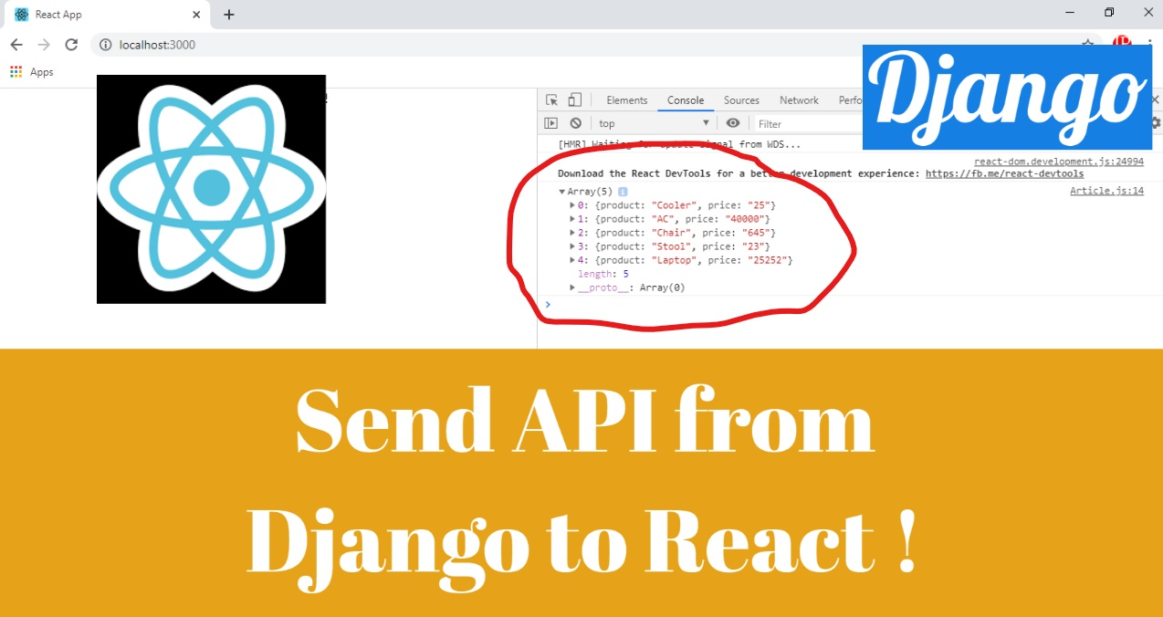 How to Fetch and Send API Data from Django to React using Django as Back-end