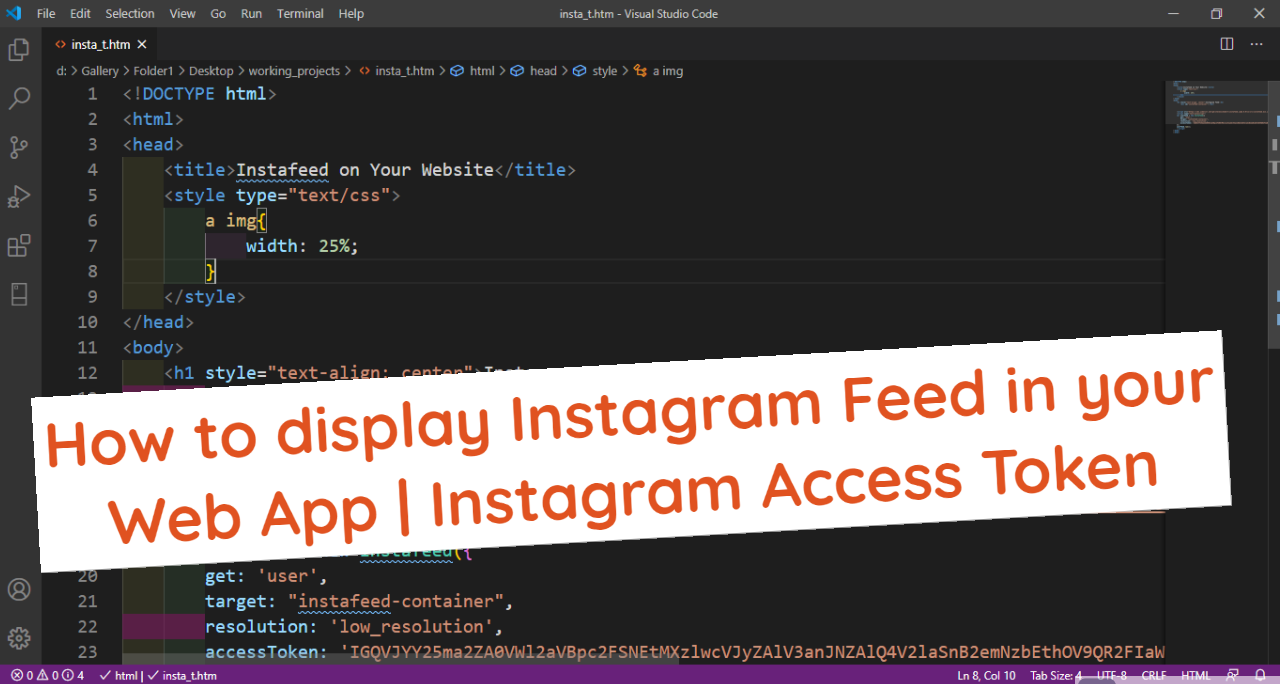 How to display Instagram Feed or Your Instagram Profile in your Web App & New ways by latest policy to create Instagram Access Token