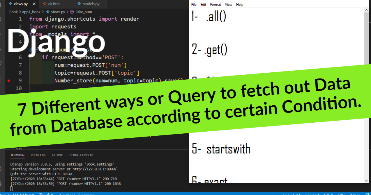 Different query or ways to fetch out data from database according to certain condition in Django .